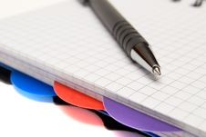 Diary And Pen Stock Photo