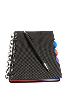 Diary And Pen On A White Stock Images