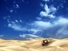 Free Gold In Desert Royalty Free Stock Image - 5297446