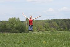 Free Jumping Girl Stock Images - 5297474