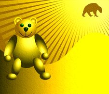 Free Yellow Teddy Bear Royalty Free Stock Photo - 5297615