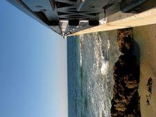 Free Pier At Beach With Black Rail Stock Photo - 5297660