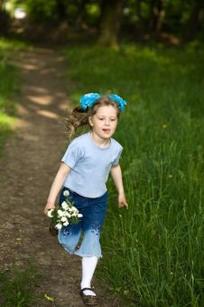 Free Girl In Summer Park Royalty Free Stock Photo - 5297865