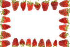 Free Delicious Strawberry Frame Royalty Free Stock Photos - 5297878