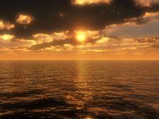 Free Ocean Sunset Royalty Free Stock Photos - 5298078