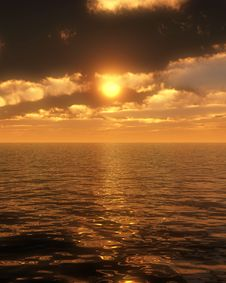 Free Ocean Sunset 2 Stock Photography - 5298082