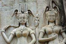Free Cambodia; Angkor Wat; Apsara Royalty Free Stock Photos - 5298998