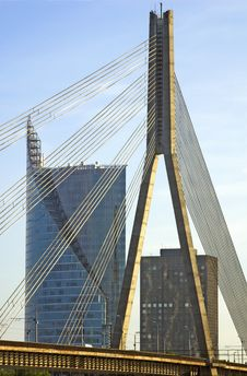 Free Cable Bridge. Stock Photography - 5299302