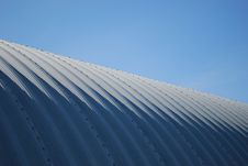 Free Farming Quonset Steel Angled Blue Sky Royalty Free Stock Photo - 5299455