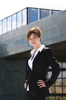 Free Businesswoman On Top Stock Photography - 5299692