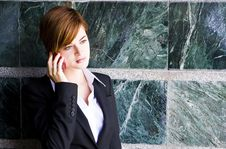 Free Businesswoman At Phone Royalty Free Stock Photo - 5299725