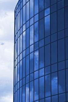 Free Clouds Reflected On Skyscrapper Windows Stock Image - 5299851