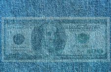 Free Texture Of Blue Cotton Royalty Free Stock Photos - 5299868