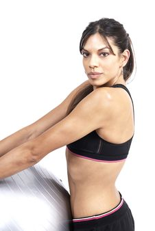 Free Beautiful Brunette Woman Exercising Stock Photography - 5299922