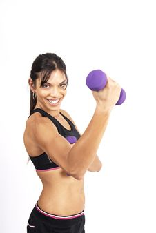 Free Beautiful Brunette Woman Exercising Stock Photo - 5299950