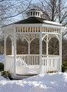 Free Snowy Gazebo Royalty Free Stock Image - 531486