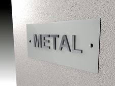 Free Metal Plate Royalty Free Stock Images - 532119