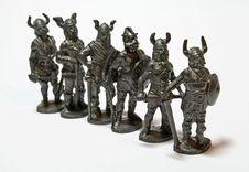Miniature Warriors Royalty Free Stock Image