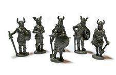 Miniature Warriors Stock Photo