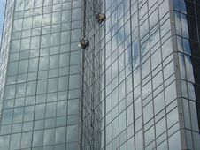 Free Window Washers High 3 Stock Photo - 535210