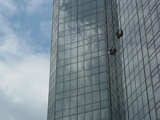 Free Window Washers High 4 Stock Image - 535211