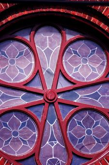 Free Round Stained Glass Window Stock Image - 535411
