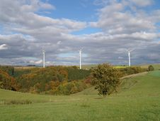 Windpower Stations Royalty Free Stock Image