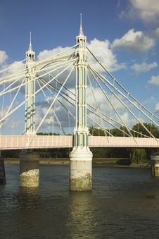 Free Portion Of Battersea Bridge On The Thames Stock Photography - 535792
