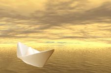 Free Paper Boat Stock Images - 536844