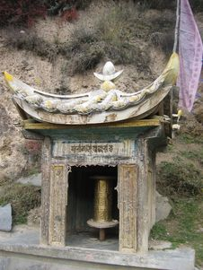 Free Roadside Prayer Wheel Stock Photography - 539702