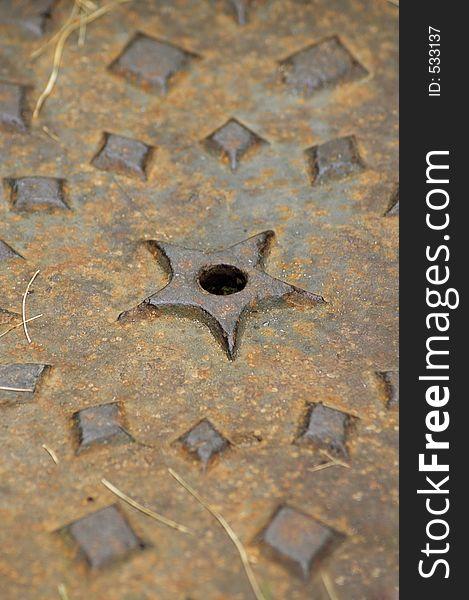Manhole Cover Macro - Vertical