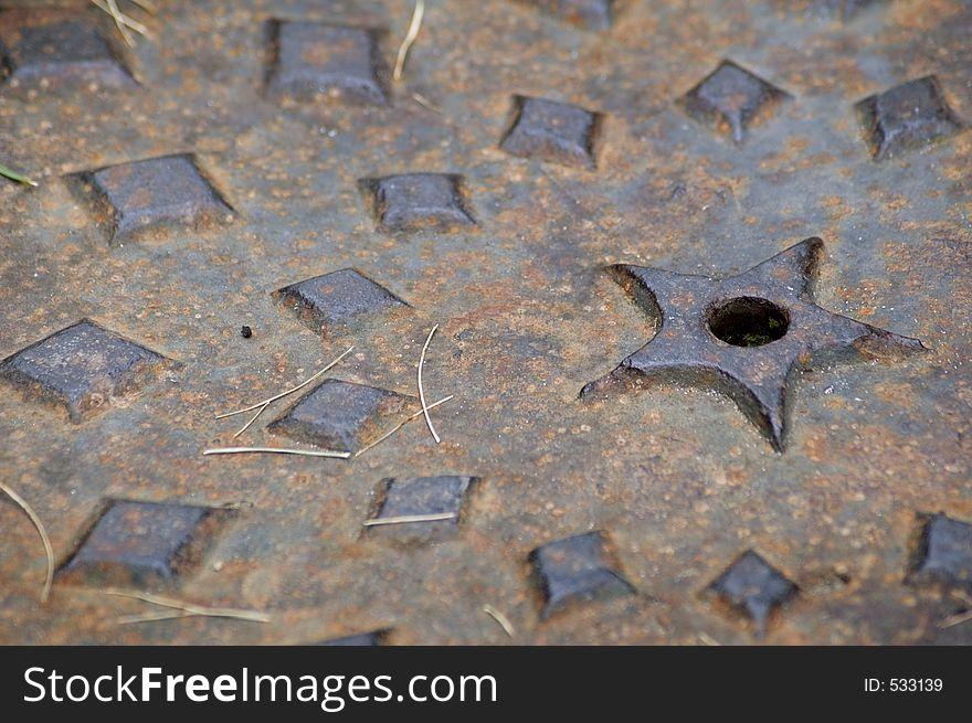Manhole Cover Macro - Horizontal