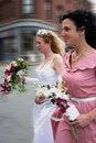Free Running To The Wedding Stock Photos - 5300223