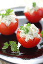 Free Tomatoes Stuffed With Feta Stock Image - 5304911