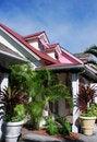 Free Paradise Island Houses Stock Image - 5309521