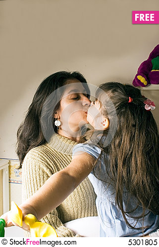 mother and a daughter kissing free stock photos amp images 5301805