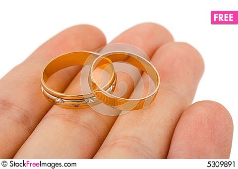 Wedding Gold Rings Hand Free Stock & s