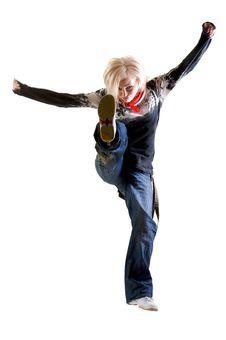 Free Jumping Kicks Stock Photos - 5300123