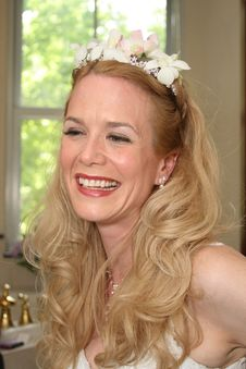 Free Bride Laughing - Beautiful Blond Woman Stock Photo - 5300200