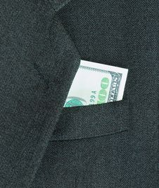 Free Coat And Money Royalty Free Stock Photography - 5301927