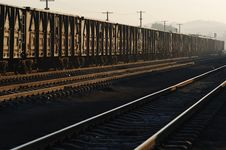 Free Freight Cars Ready To Depart Royalty Free Stock Photography - 5302067