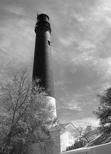Free Lighthouse (B+W) Royalty Free Stock Photos - 5302258