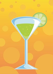 Free Green Cocktail Royalty Free Stock Photo - 5302365