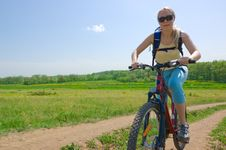 Free Girl Biking Royalty Free Stock Photos - 5302968