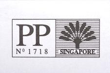 Singapore Stamp Stock Image