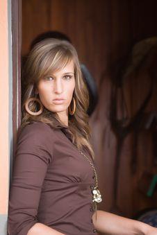 Free Woman On Farm Stock Photos - 5303653