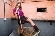 Free Woman On Farm Stock Photo - 5303930