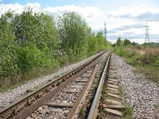 Free A Running Away Railroad Stock Photo - 5304500
