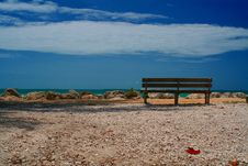 Free Ocean Bench Royalty Free Stock Images - 5304779