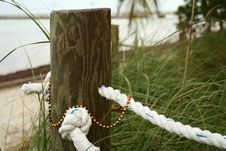 Pole And Beads Stock Image